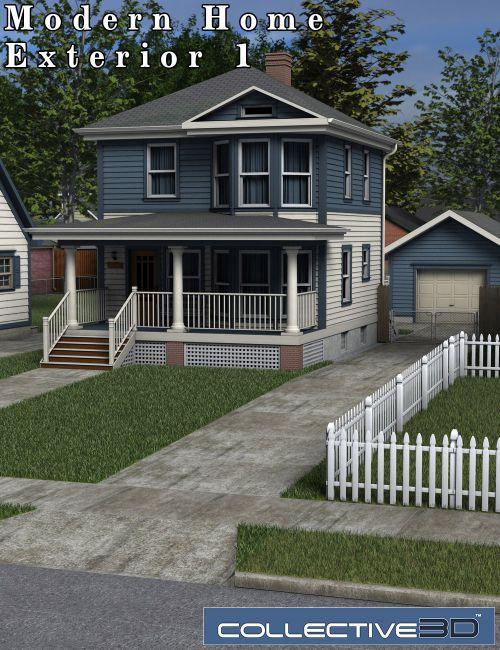 Collective3d Modern Home Exterior 1