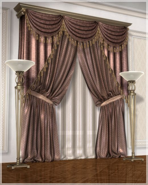 Classic Curtains Set1 Props Scenes And Architecture For