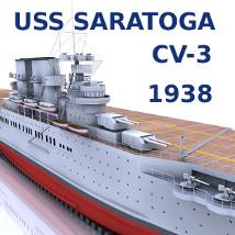USS Saratoga (CV-3) 1938