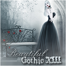 Beautiful Gothic XIII- White & Red