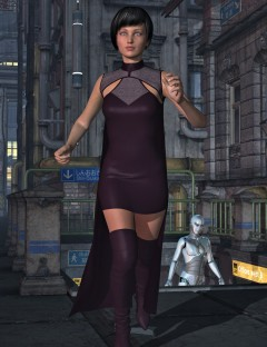 Mara Dynamic Cape and Dress