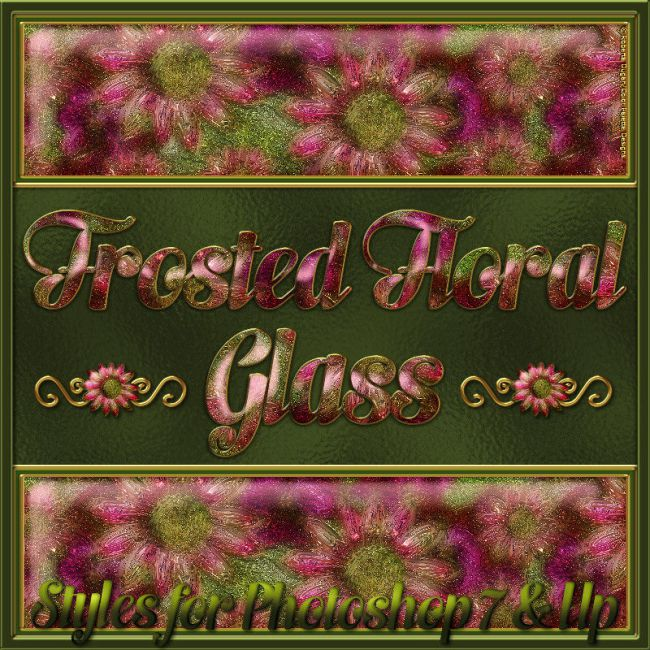 Frosted Floral Glass Layer Styles