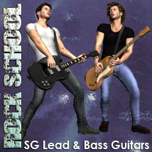 Rock School SG Lead & Bass Guitars