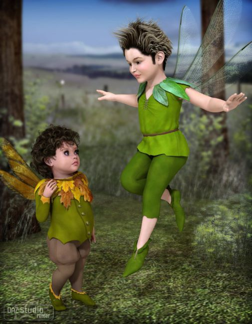 Fairy Boy For K4 Clothing Accessories For Daz Studio And