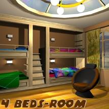 4 Beds-Room