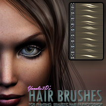 Y3D Hair Brushes for Photoshop