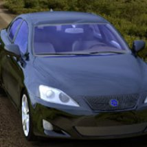 Luxury Sedan Car 2 (for Poser and Vue)