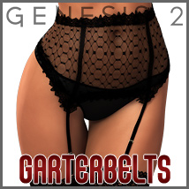 SuperHose Infinite Garterbelts and Straps for Genesis 2 Female(s)