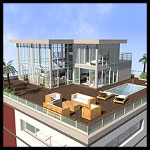 Modern Villa, Penthouse
