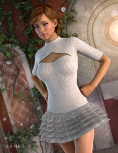 Ruffle Dress for Genesis 2 Female(s)
