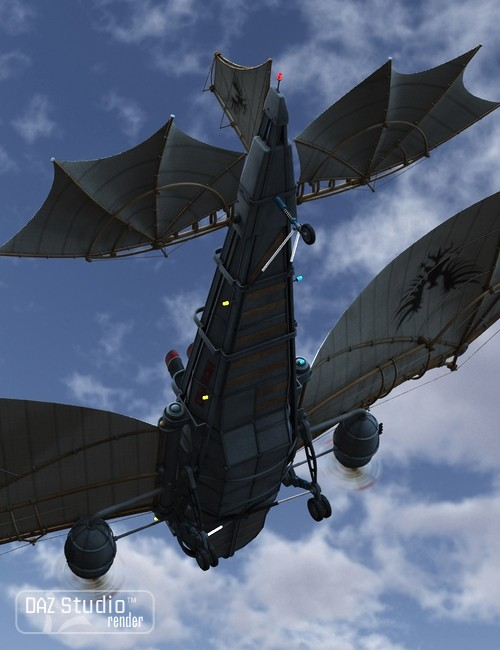 Steam Aircraft Dragon Vehicles For Daz Studio And Poser