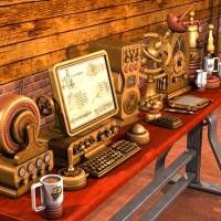 Steampunk Office Equipment