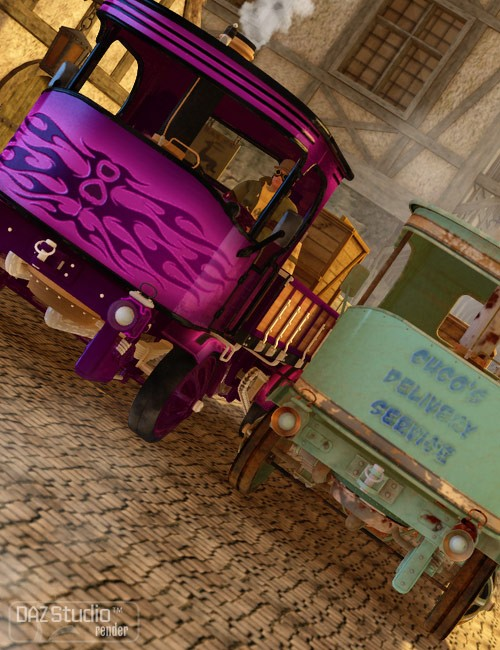 Delivery Service for Steam Truck Red Bizon
