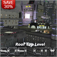 SciFi City Roof Top Level
