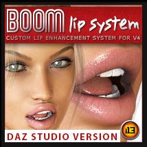 i13 BOOM Lip System for V4 - Daz Studio Version