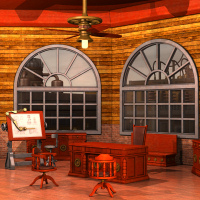 Steampunk Office Interior