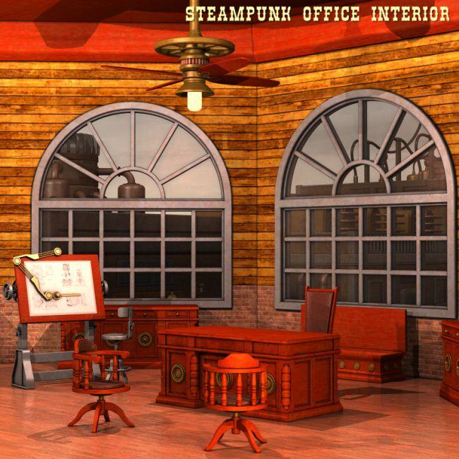 Steampunk Office Interior