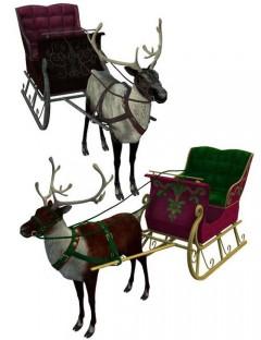 Reindeer & Sleigh