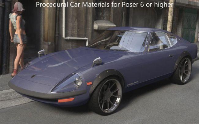 Car Materials for Poser