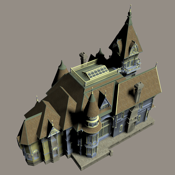 Ms13 Carson Mansion Props Scenes And Architecture For Poser