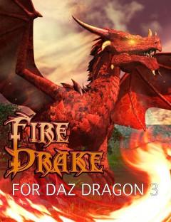 DA Fire Drake for DAZ Dragon 3