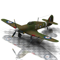 Hurricane Aircraft (for Poser)