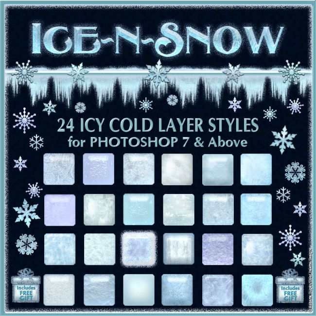 Ice 'n' Snow Layer Styles w/Free Gift