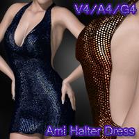 Ami Halter Dress V4-A4-G4