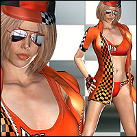 Racing Queen Outfit & 10 Poses