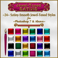 Jewel-Toned Satin Layer Styles