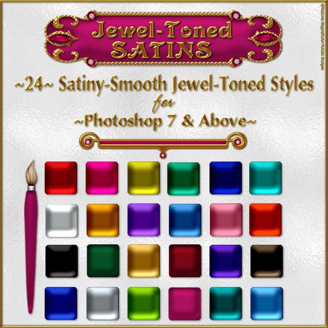 Jewel-Toned Satin Layer Styles