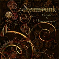 Steampunk Trinkets and Backgrounds