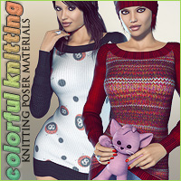 Colorful Knitting Materials