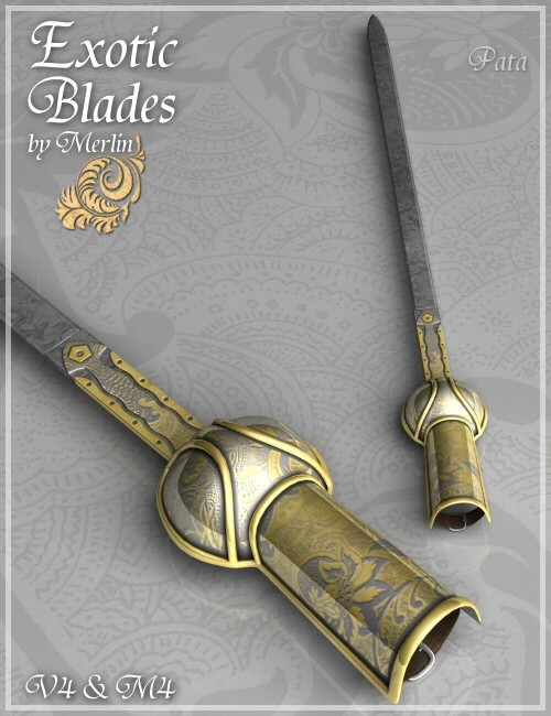 Exotic Blades by Merlin | Environments and Props for Daz Studio ...