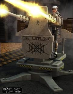 BattleFlak Machine Gun Turret