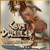 CaveDweller Weapons and Poses for V4