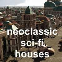 Neoclassic Sci-Fi Houses