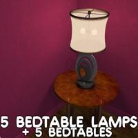 5 Bedtable lamps