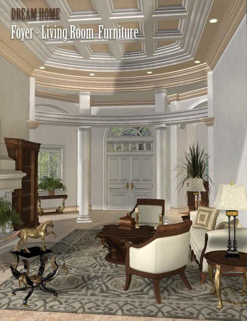 Dream home foyer and living room furniture london for Living room 2 for daz studio