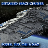 Allied Fleets Heavy Battle Cruiser- Poser,DAZ,OBJ,3DS,MAX