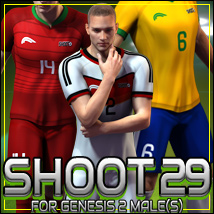 SHOOT 29: World Cup Soccer for Genesis 2 Male(s)