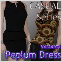 CASUAL Series: Peplum Dress V4-A4-G4
