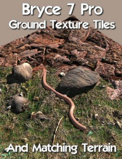 Bryce 7 Pro Ground Texture Tiles and Matching Terrain