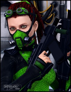 CyberXTech Bundle for XTech Outfit and Dreadlock Ponytail
