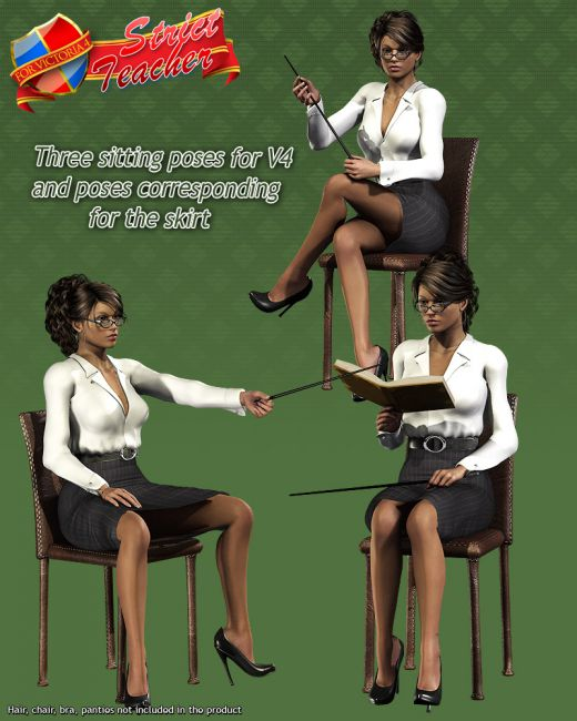 Strict Teacher V4 A4 G4 Elite Poses And Expressions For