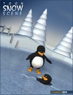 Toon Snow Scene