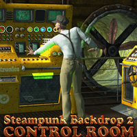 Control Room - Steampunk Backdrop 2