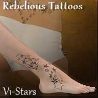 Rebelious Tattoos-Stars