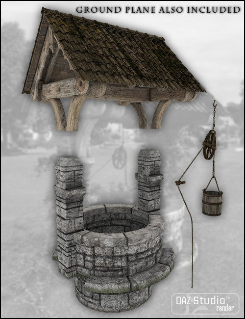 Old Village Wishing Well Environments And Props For Daz