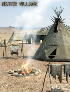 Native Cheyenne Village